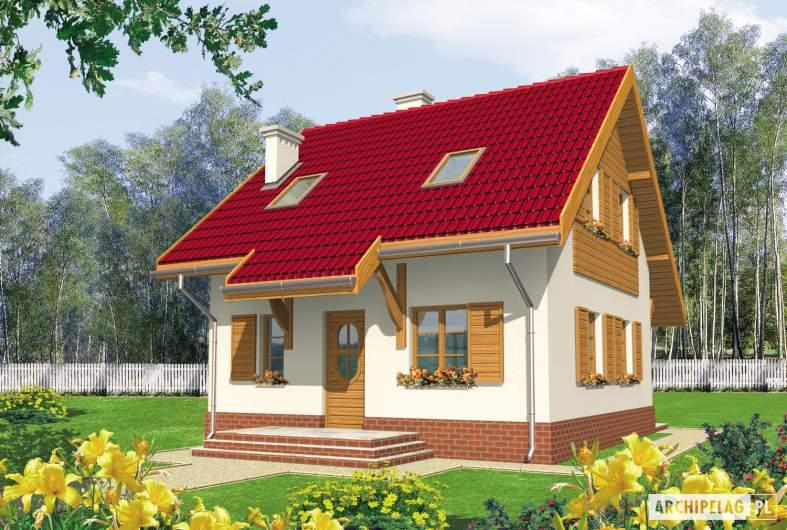 Projekt domu Raissa - wizualizacja frontowa