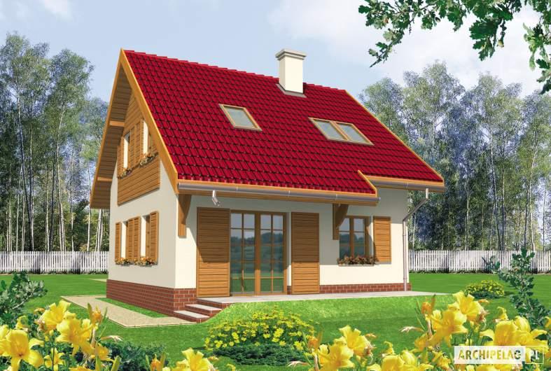 Projekt domu Raissa - wizualizacja ogrodowa
