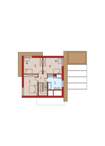 EX 10 II (z wiatą) ENERGO PLUS: Piętro I