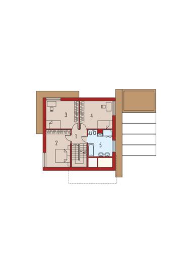 EX 10 II (z wiatą) soft: Piętro I