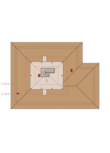 Flori III G1 ECONOMIC (wersja A): Poddasze do adaptacji