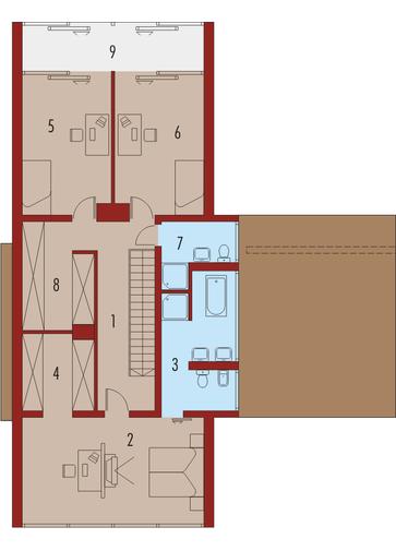 Romek (z wiatą): Piętro I