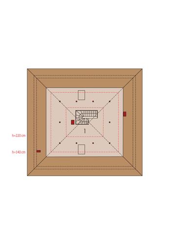 Flori III ECONOMIC (wersja A) 30 stopni: Poddasze do adaptacji