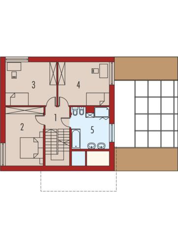 EX 10 (z wiatą) soft: Piętro I