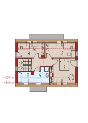 E1 (wersja A) MULTI-COMFORT: Poddasze